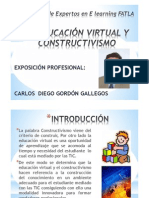 EDUCACIÓN VIRTUAL Y CONSTRUCTIVISMO CARLOS GORDON