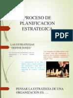 Proceso de Planificacion Estrategica