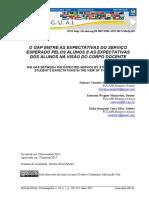 O GAP ENTRE AS EXPECTATIVAS DO SERVIÇO ESPERADO PELOS ALUNOS E AS EXPECTATIVAS DOCENTES.pdf