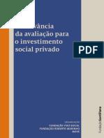 A Relevância da Avaliação para o Investimento Social Privado.pdf
