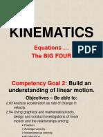 04 Kinematics Big Four Equations