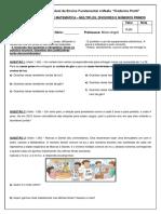 Prova 1 - 6º Ano - Múltiplos, Divisores, Números Primos