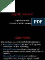 Logical Fallacies II