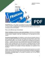 MODULE 1 Franchising.docx