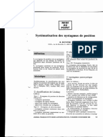 Systematisation Des Nystagmus de Position (1982)