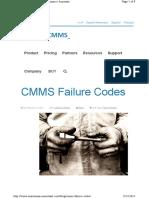 CMMS Failure Codes