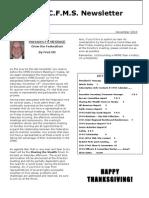 2010 November CFMS Newsletter