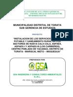 ESTUDIO DE ANALISIS DE AGUA