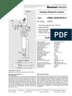 Baumer Ultrasonic Sensor | UNDK 30U61