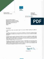 La carta de la CE a Espanya per la contaminació