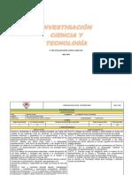 Plan Anual Ciencia y Tecnologia 3ero Bgu 2018-2019