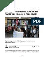Huelga Aeropuerto de Loiu