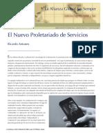 Ricardo Antunes - El Nuevo Proletariado de Los Servicios