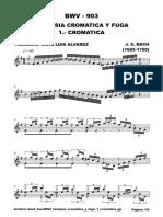 Fantasía y fuga cromatica bwv 903