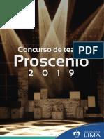 Bases de Concurso de Teatro - Proscenio 2019 - MML
