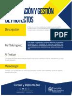 Maestría Dirección y Gestión de Proyectos URL