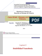 EE60 - Clase 6B - Estabilidad Transitoria - CriterioÁreasMultimáquina 2019-I
