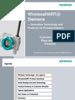 Transmisores SIEMENS - Wirless HART