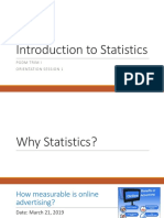1. Introduction to Statistics