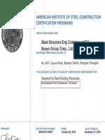 AISC- Certificado