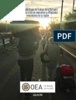 Informe del Grupo de Trabajo de la Organización de los Estados Americanos  para abordar la crisis de migrantes y refugiados venezolanos en la región