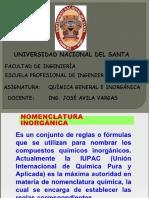 DIAPOSITIVAS NOMENCLATURA INORGÁNICA