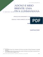 ROCHA, Leonel Severo - Paradoxo e Meio Ambiente
