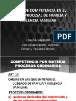 Dra. Raganato - Reglas de Competencia en Cpfyvf-calificacion Accion
