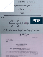 Examens Corriges de Mecanique Quantique2