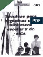 Tecnicas p. Organizar Biblioteca Escolar