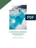 Costos en Mineria Subterránea Guarras