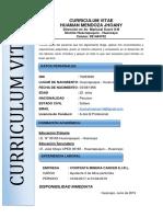 Curriculum Vitae Jhoany Huaman Mendoza