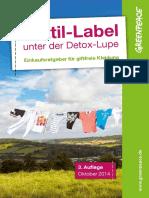 Greenpeace Ratgeber Textil Label 2014 e00972 Es 0
