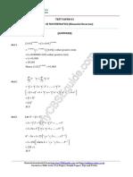 11 Mathematics Binomial Theorem Test 01 Answer 589c