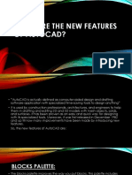 What Are the New Features of AutoCAD