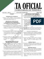 Gaceta Oficial 41668 Sumario