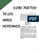 El folklore poético de los niños mexicanos