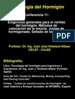 Conferencia 11 Métodos de colocación del hormigón.ppt