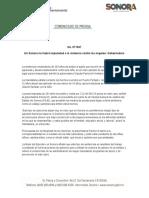 09-07-2019 En Sonora no habrá impunidad a la violencia contra las mujeres- Gobernadora