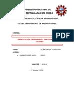 Diagnóstico Del Ordenamiento Territorial Del País de Colombia
