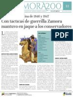 Rebelión campesina de 1846 y 1847Con tácticas de guerrilla Zamora mantuvo en jaque a los conservadores
