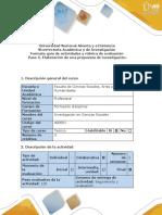 Guía de Actividades y Rúbrica de Evaluación -Paso 5 – Elaboración de La Propuesta de Investigación