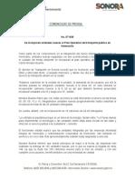 07-07-2019 Se incorporan unidades nuevas al Plan Operativo de transporte público en Hermosillo