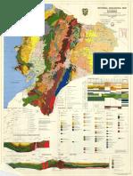 Mapa Geologico Del Ecuador de 1982
