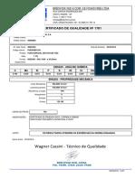 Certificado de Qualidade - Oyamota - Nf.1852 - 02.09.2016