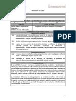 Programa IN4302 Finanzas I 2017