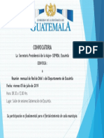 CONVOCATORIA A RED DE DMM´s JULIO  2019