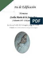 Carta de Edificación de La Hermana Cecilia María de La Santa Faz Final