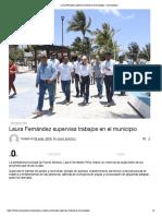 Laura Fernández supervisa trabajos en el municipio