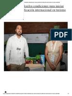 Reúne Puerto Morelos condiciones para iniciar proceso de certificación internacional en turismo sostenible